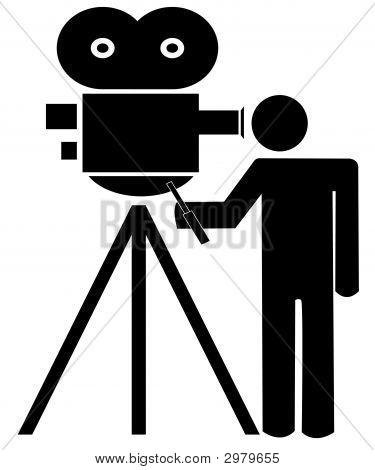 Stick Man W Movie Camera