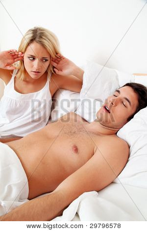 husband snores loud and unpleasant.