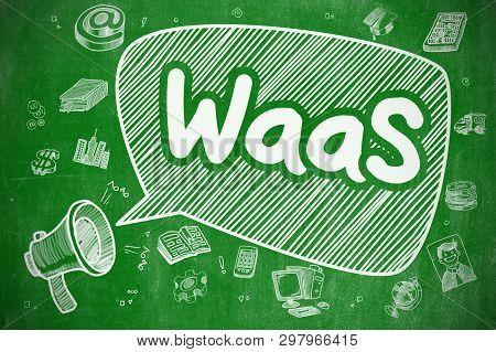 Waas - Hand Drawn Illustration On Green Chalkboard.