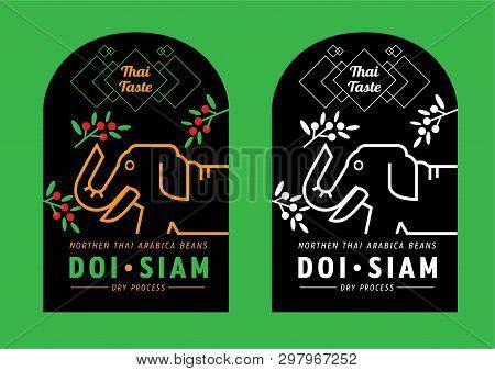 Thai Taste Mountain Coffee Label Design Call