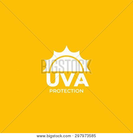 Uva Protection Vector Label, Eps 10 File, Easy To Edit