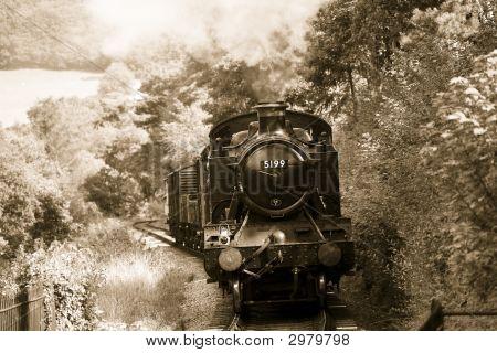Steam Train In Sepia46