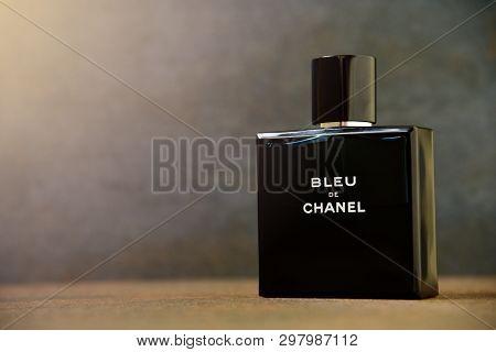 Blue De Chanel For Men On Dark Background