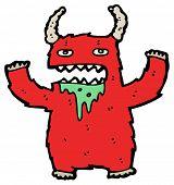(raster version) cartoon furry monster cartoon poster