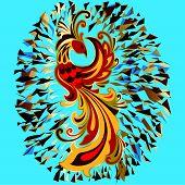 Phoenix Fire bird legend Firebird is Russian fairy tales and Slavic folklore creature. poster