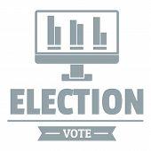 Vote stats logo. Simple illustration of vote stats logo for web poster