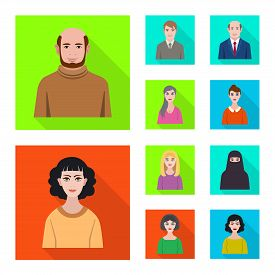 Isolated Object Of Profile And Portrait Icon. Collection Of Profile And Profession  Vector Icon For