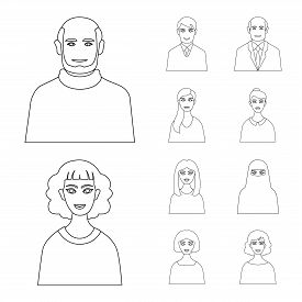 Isolated Object Of Character  And Avatar Icon. Collection Of Character  And Person Vector Icon For S