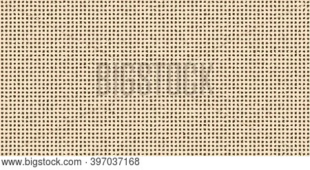 Seamless Pattern, Beige Cell On A Brown Background