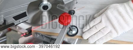 Carpenter Clamp Laminate With Vice For Sawing. High Performance Electric Saws. Buy Laminate Flooring