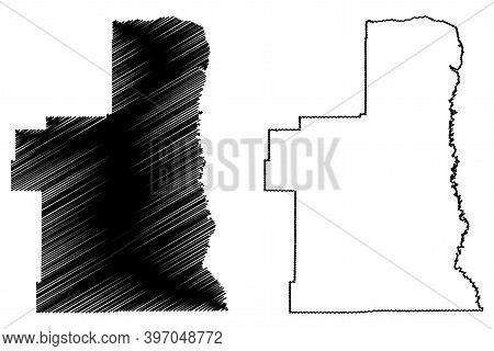 Petroleum County, Montana (u.s. County, United States Of America, Usa, U.s., Us) Map Vector Illustra