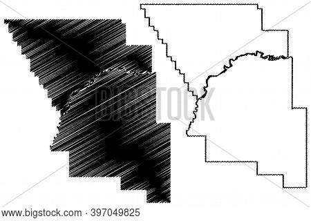 Treasure County, Montana (u.s. County, United States Of America, Usa, U.s., Us) Map Vector Illustrat