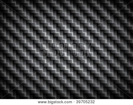 Carbon Fiber Texture, Bound Crosswise Fibers Background, Eps10