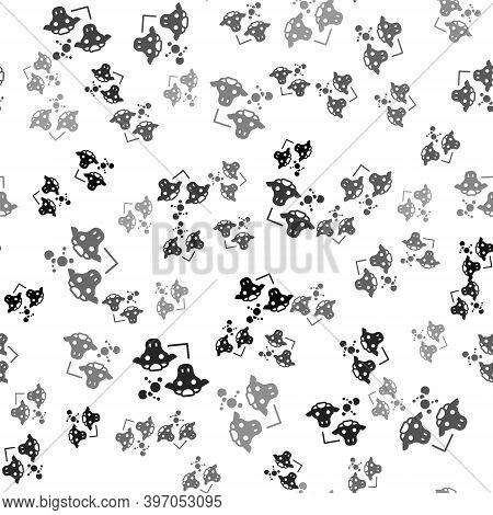 Black Cloning Icon Isolated Seamless Pattern On White Background. Genetic Engineering Concept. Vecto