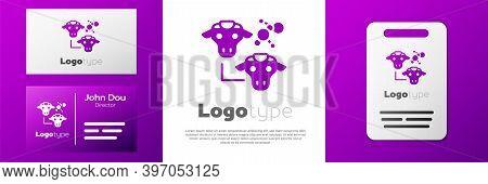 Logotype Cloning Icon Isolated On White Background. Genetic Engineering Concept. Logo Design Templat