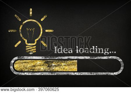 Idea Loading Concept Suitable. Progress Bar Loading A New Idea, For Business And Career. A Loading B