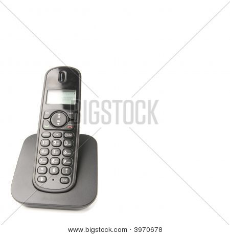 dect cordless phone isolated on withe background poster