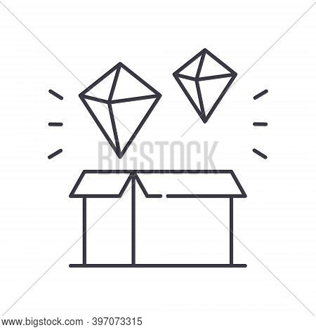 Genesis Block Icon, Linear Isolated Illustration, Thin Line Vector, Web Design Sign, Outline Concept