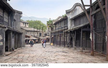 Hengdian, Zhejiang/ China: Oct-21 2020: The Hengdian's World Studio For Shooting Film Studio, The Gr