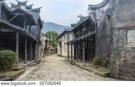 Hengdian, Zhejiang/ China: Oct-21 2020: The Hengdian's World Studio For Shooting Film Studio, The Tr
