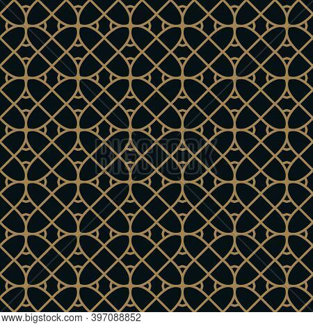 Vector Seamless Pattern. Geometric Background With Rhombus And Nodes. Abstract Geometric Pattern. Go