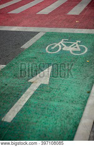 Bike Green Lane, Concept Of Bicycle Way