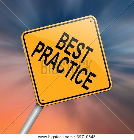 Best Practice Concept.