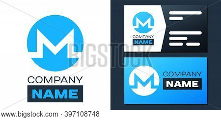 Logotype Cryptocurrency Coin Monero Xmr Icon Isolated On White Background. Digital Currency. Altcoin