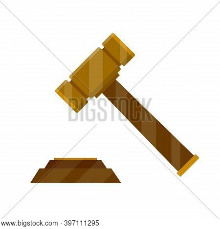 Judge Hammer. Symbol Of Lawyer, Judiciary And State. Subject Of Knocking