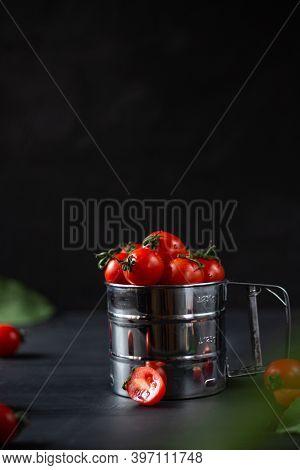 Homemade Vegetables. Fresh Organic Vegetables. Vegetables From The Garden. Colorful Vegetable. Fresh