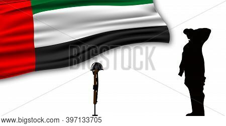 Illustration Of Uae Commemoration Day. United Arab Emirates Martyr's Day. Design For Card, Posters.