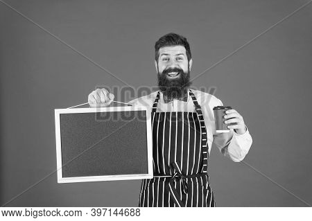 Cafe Menu. Cold Brew Coffee. Barista Handsome Worker. Mature Barista. Delicious Cappuccino. Restaura