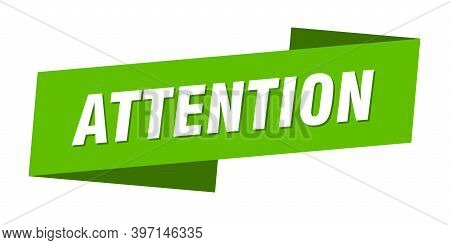 Attention Banner Template. Attention Ribbon Label Sign