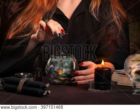 The Power Of A Witch. Magic Ritual