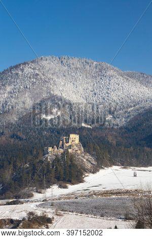 Likava ruins near Ruzomberok in Chocske mountains, Slovakia
