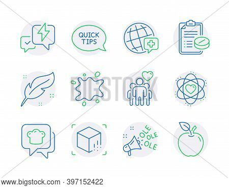 Business Icons Set. Included Icon As Lightning Bolt, World Medicine, Augmented Reality Signs. Medica