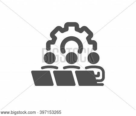 Teamwork Icon. Remote Office Sign. Team Employees Symbol. Quality Design Element. Flat Style Teamwor