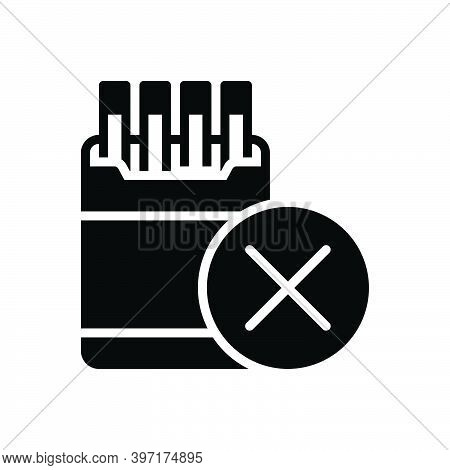 Black Solid Icon For Restriction Inhibition Ban Prohibit Moratorium Taboo Smoking No-smoking Cigaret