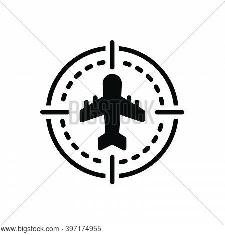 Black Solid Icon For Sight Eyesight Vision Ability-to-see Flight Plan Aeroplane Flying Aircraft Airl