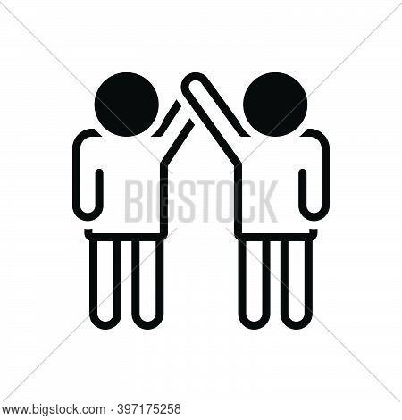 Black Solid Icon For Coalition Union Alliance Organization Combination Team Colleagues  Friendship P