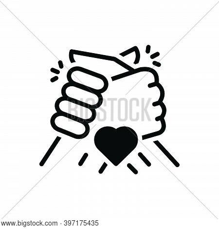 Black Solid Icon For Friend Colleague Friendship Partner Buddy Chum Group Partner Fellow Companion H