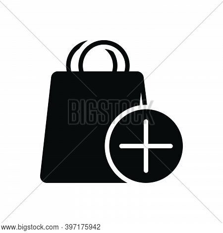 Black Solid Icon For Item Object Commodity Thing Groceries Shop Element Product Shopping-bag Daily-u