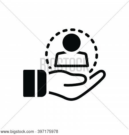 Black Solid Icon For Retain Keep Keep-hold-of Hold Keep-up Loyalty Retention Consumer