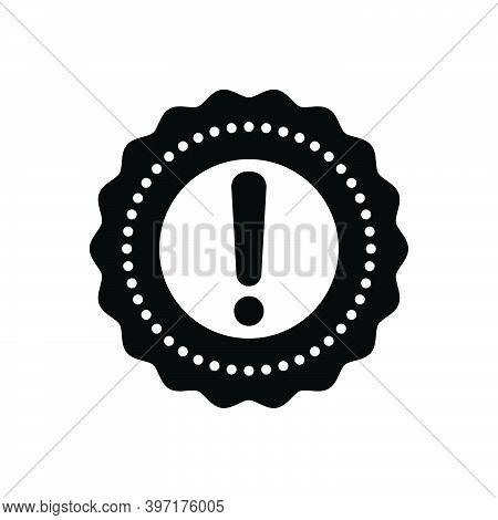 Black Solid Icon For Significance Priority Value Import Organize Caution Risk Danger Prevent Hazard