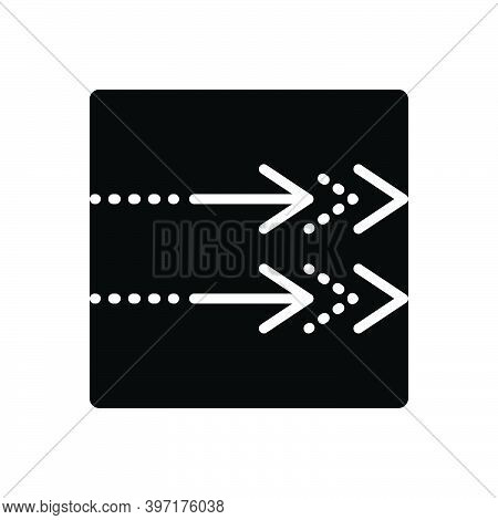 Black Solid Icon For Towards Next Continue Arrow Point Proceed Indicator