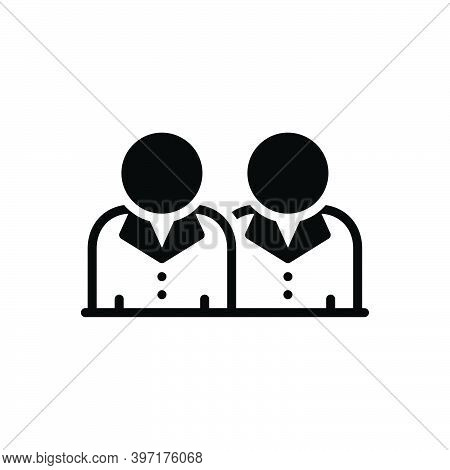 Black Solid Icon For Brother Brethren Sibling Relative Relation Boy People