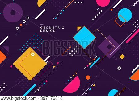 Abstract Colorful Tech Geometric Design Element Poster Artwork Background. Decorate For Poster, Copy