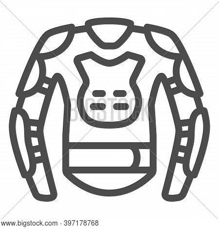 Snowboarder Protective Suit Line Icon, World Snowboard Day Concept, Snowboard Jacket Sign On White B