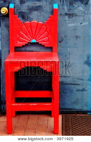 Red Southwestern Chair
