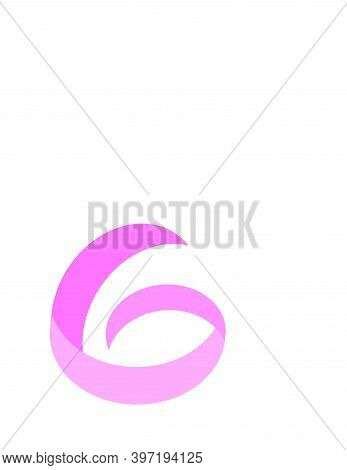 G, Gb, G Pink Initials Geometric Logo And Vector Icon